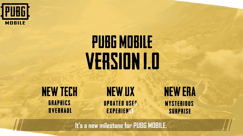 PUBG Mobile 1.o new update details pubgmobilelatest