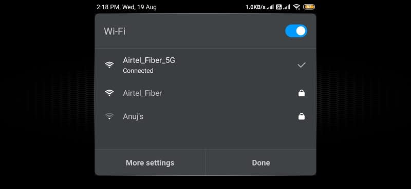 use 5Ghz wifi for pubg mobile to low the ping