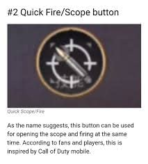 Quick Fire Scope button