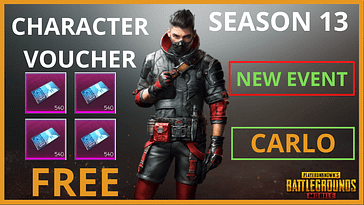 How To Get PUBG Mobile Character Vouchers free in Season 13