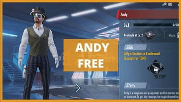 So this was all about how to get Andy character for free. We hope you liked our article and we tried our best to give you all the information regarding this topic. For any further queries or doubts you can write to us in the below section. We'll try to reach you soon.